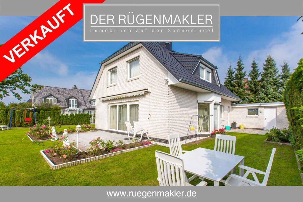 Ruegenmakler - Einfamilienhaus mit Garten in Bergen auf Rügen